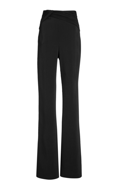 Cushnie Knot-Detailed Crepe Pants in black
