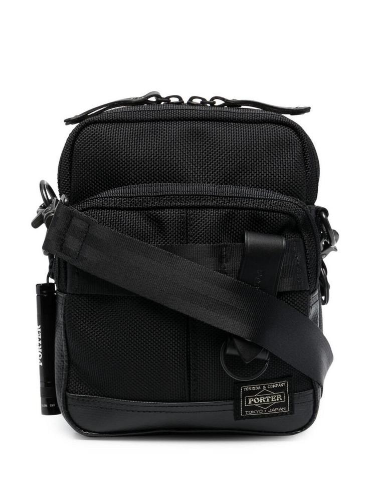 Porter-Yoshida & Co. Porter-Yoshida & Co. logo patch crossbody bag - Black