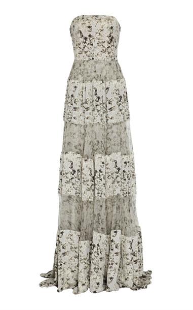 Noon by Noor Dion Silk Strapless Gown Size: 6 in black