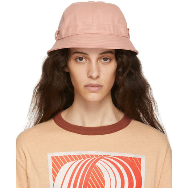 Acne Studios Pink Blå Konst Alvy Bucket Hat