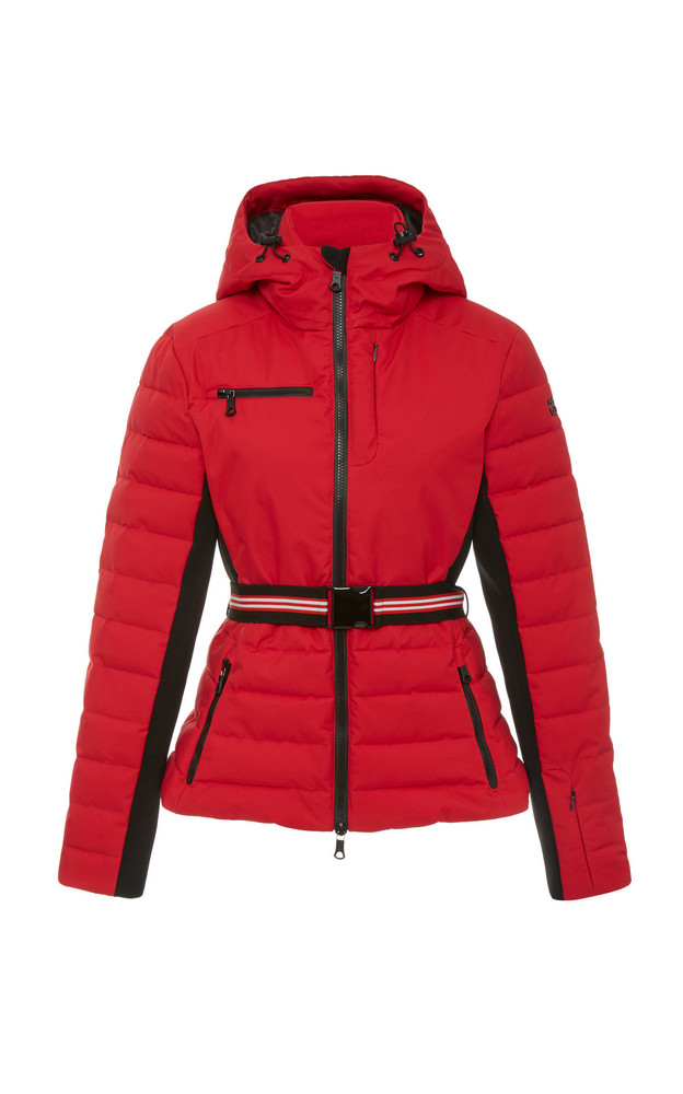 Erin Snow Kat Belted Quilted Jacket Size: 4 in red