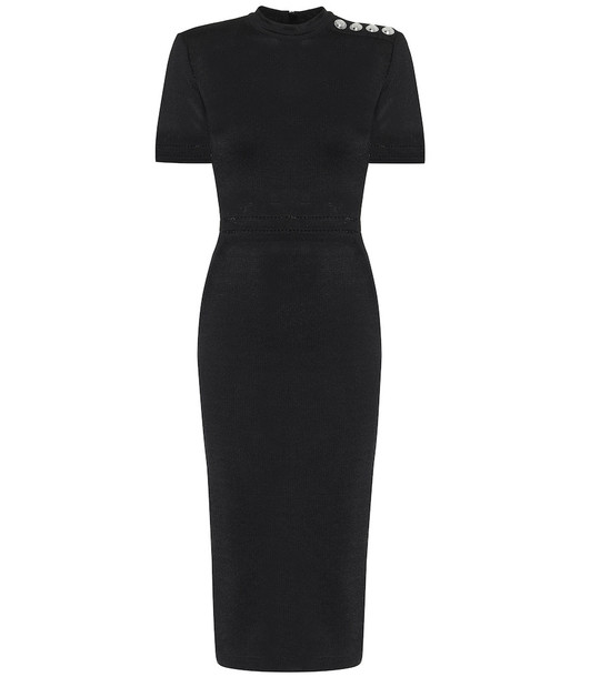 Balmain Knit midi dress in black