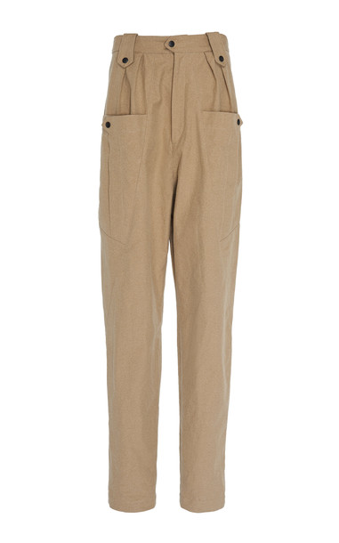 Isabel Marant Yerris High Waisted Cargo Pants in brown