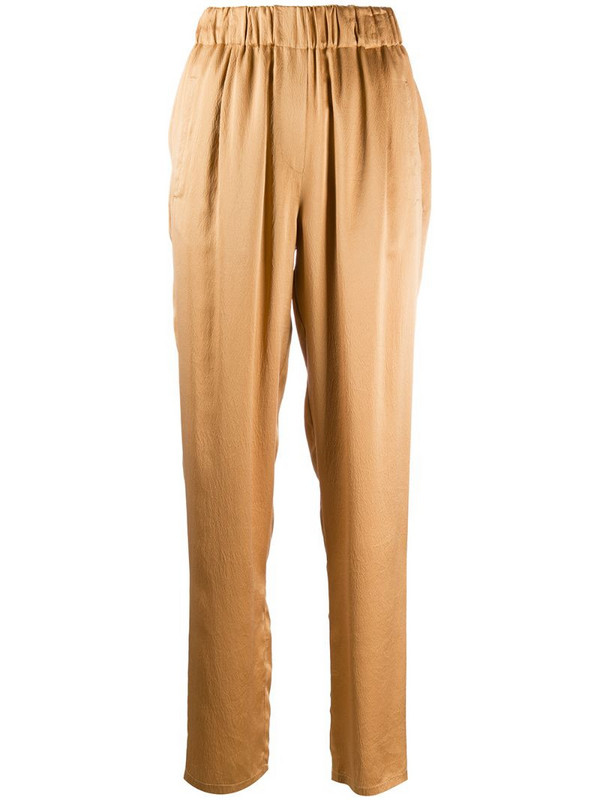 Forte Forte elasticated straight-leg trousers in yellow