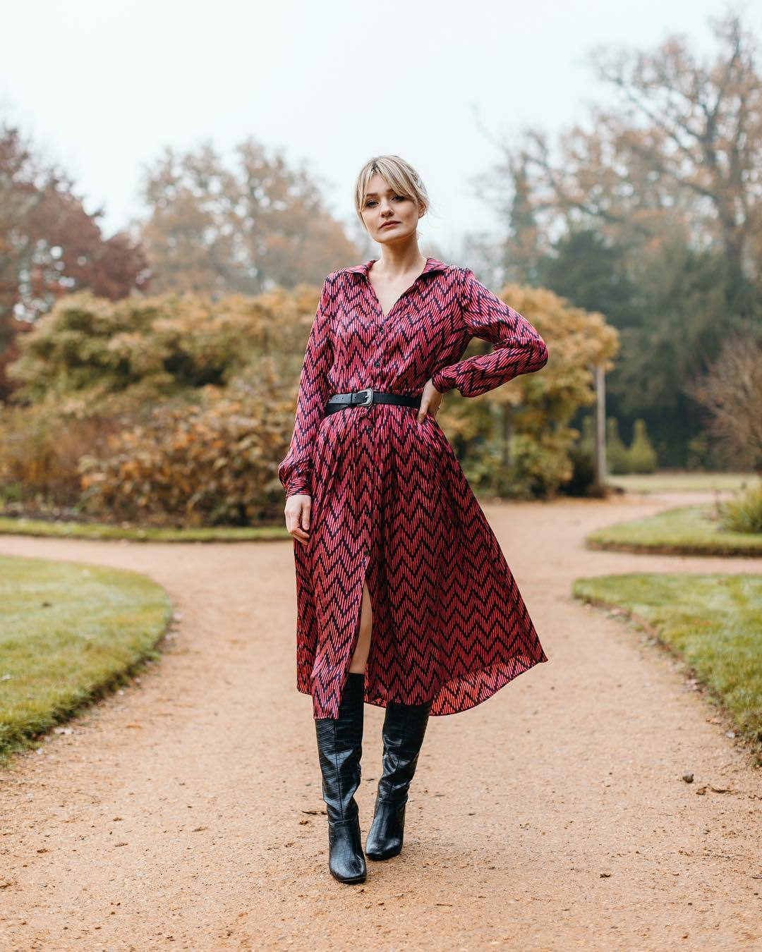 Long Sleeve Dresses With Knee High Boots , Carley \u0026 Connellan