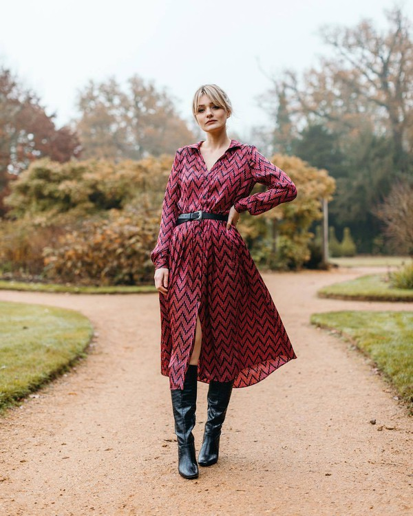 dress shirt dress mango long sleeves midi dress knee high boots black boots heel boots black belt