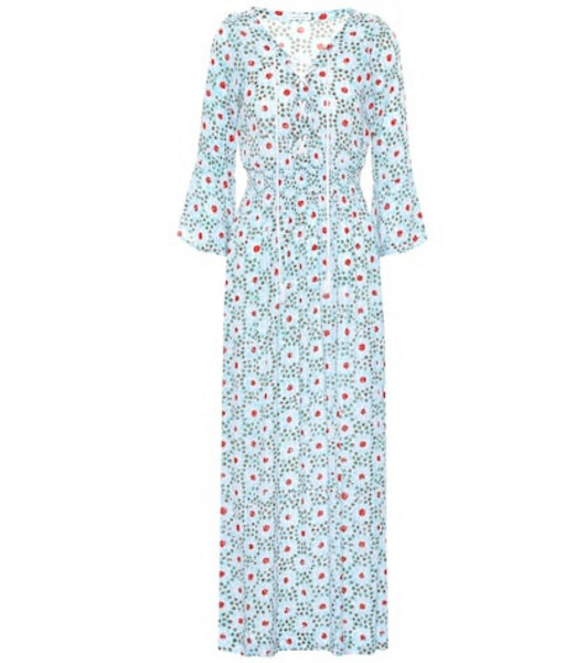 Poupette St Barth Exclusive to Mytheresa – Lucy printed maxi dress in blue