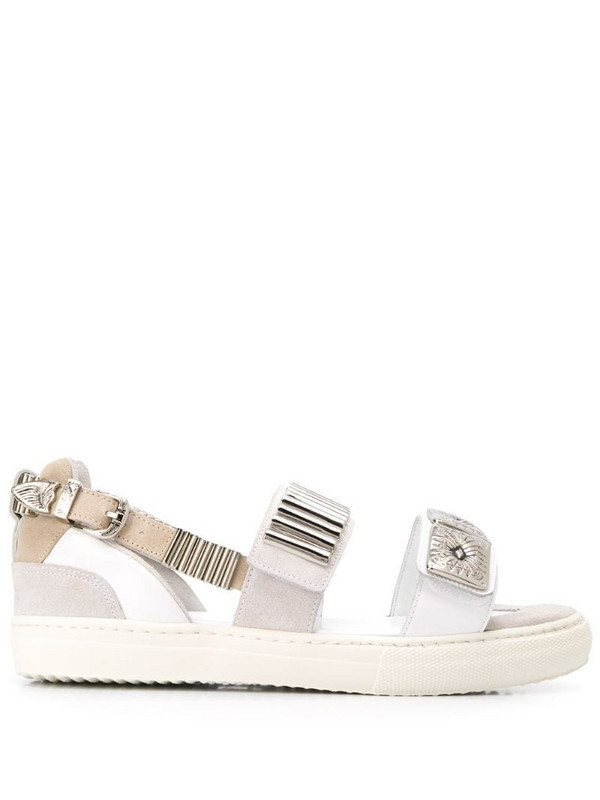 Toga Pulla buckled flat sandals in white