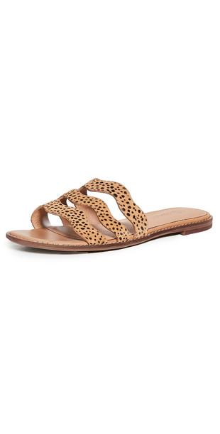 Madewell Joy Wavy Sandals in brown / multi