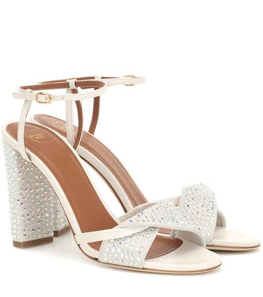 Malone Souliers Tara embellished sandals in silver