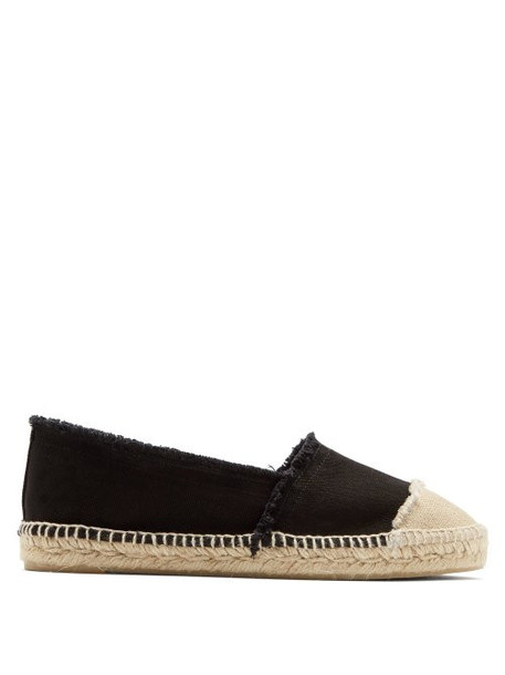 Castañer - Kampala Cotton Canvas Espadrilles - Womens - Black