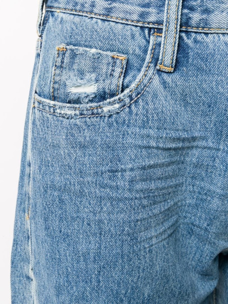 One Teaspoon cropped relaxed-fit jeans in blue