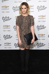 dress,animal print,leopard print,celebrity,ashley tisdale,fall outfits,fall colors