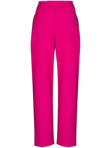 AMBUSH slit wide-leg trousers - Pink