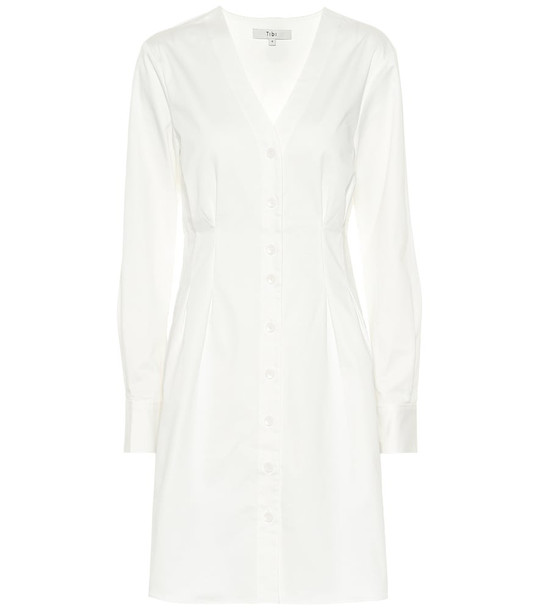 Tibi Dominic twill shirt dress in white