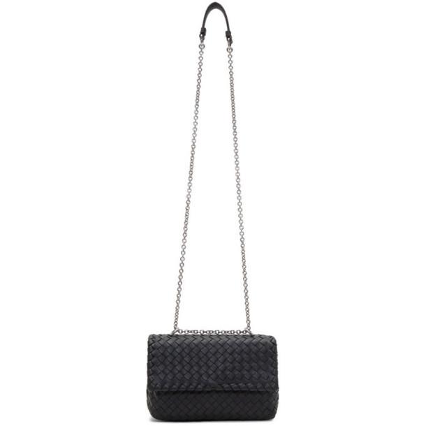 Bottega Veneta Black Intrecciato Mini Olympia Bag