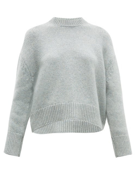 Brock Collection - Cropped Round Neck Cashmere Sweater - Womens - Grey