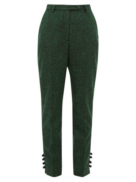 Erdem - Bernadina Felt Trousers - Womens - Green Multi