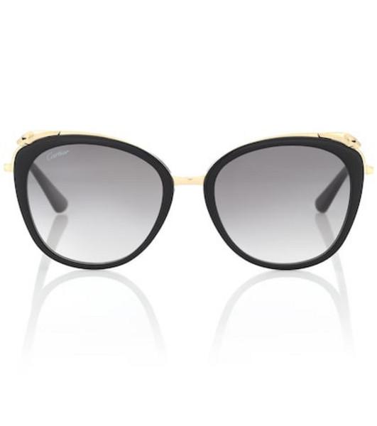 Cartier Eyewear Collection Panthère de Cartier sunglasses in black