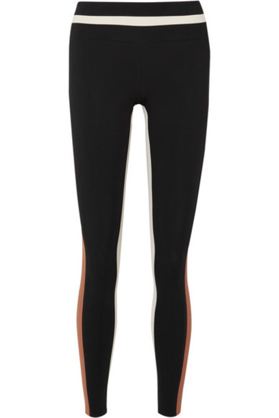 Vaara - Flo Tuxedo Striped Stretch Leggings - Black