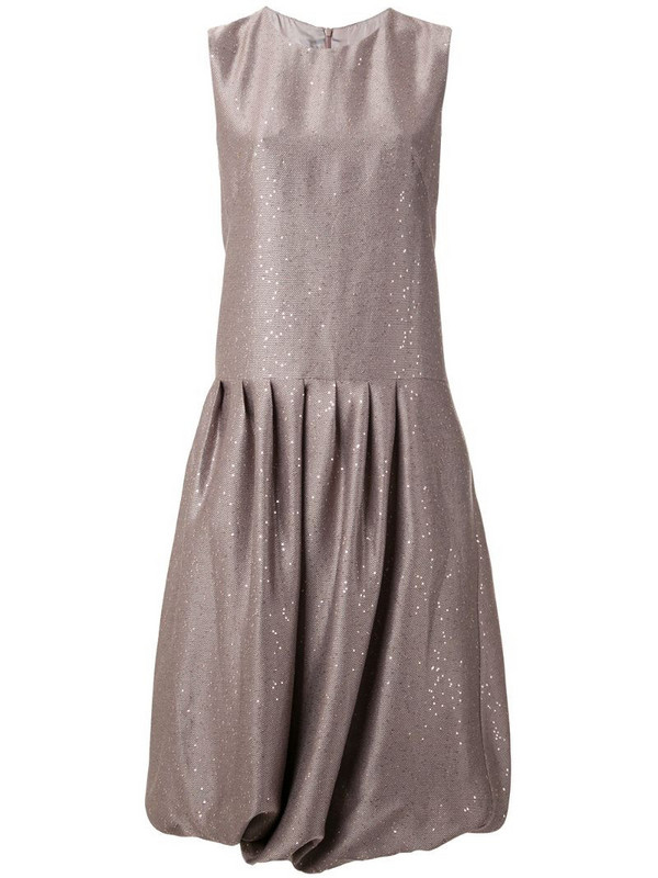Paskal pleated sequin midi dress in pink