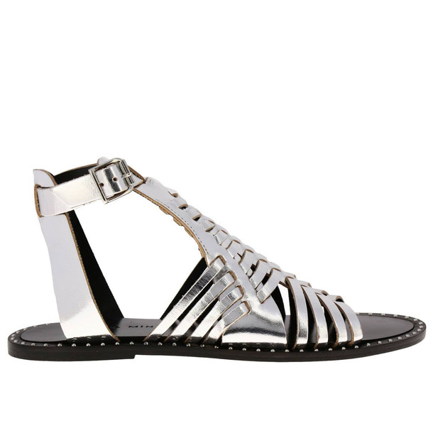 Rebecca Minkoff Flat Sandals Shoes Women Rebecca Minkoff in silver