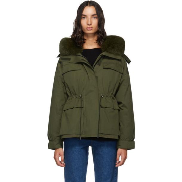 Yves Salomon - Army Green Down Bachette Jacket