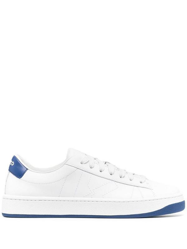 Kenzo contrast heel-counter sneakers in white