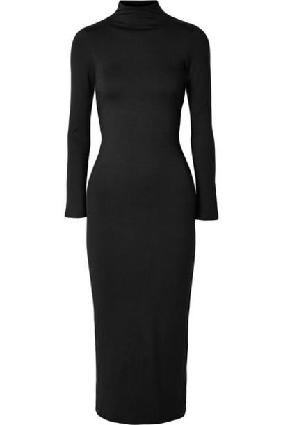 Reformation - Jameson Open-back Stretch-tencel Jersey Midi Dress - Black
