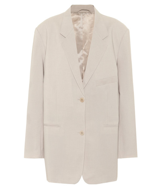 Frankie Shop Pernille  single-breasted crêpe blazer in grey
