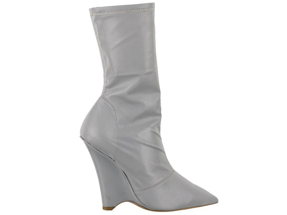 Yeezy Wedged Ankle Boot in silver