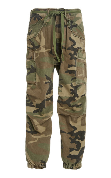 R13 Camouflage Drop-Rise Cargo Pants in print