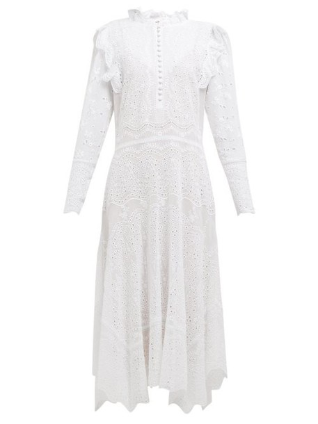Rebecca Taylor - Livy Broderie Anglaise Cotton Blend Dress - Womens - White