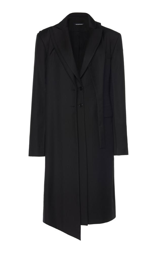 Boyarovskaya Detachable Wool Trench Coat Size: XS in black