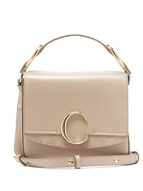 Chloé Chloé - The C Small Leather Shoulder Bag - Womens - Grey