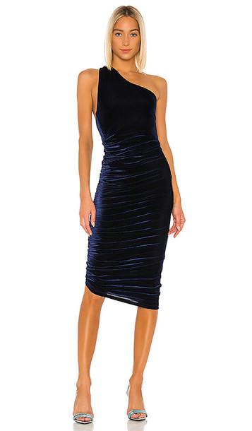 ALIX NYC Celeste Velvet Dress in Navy