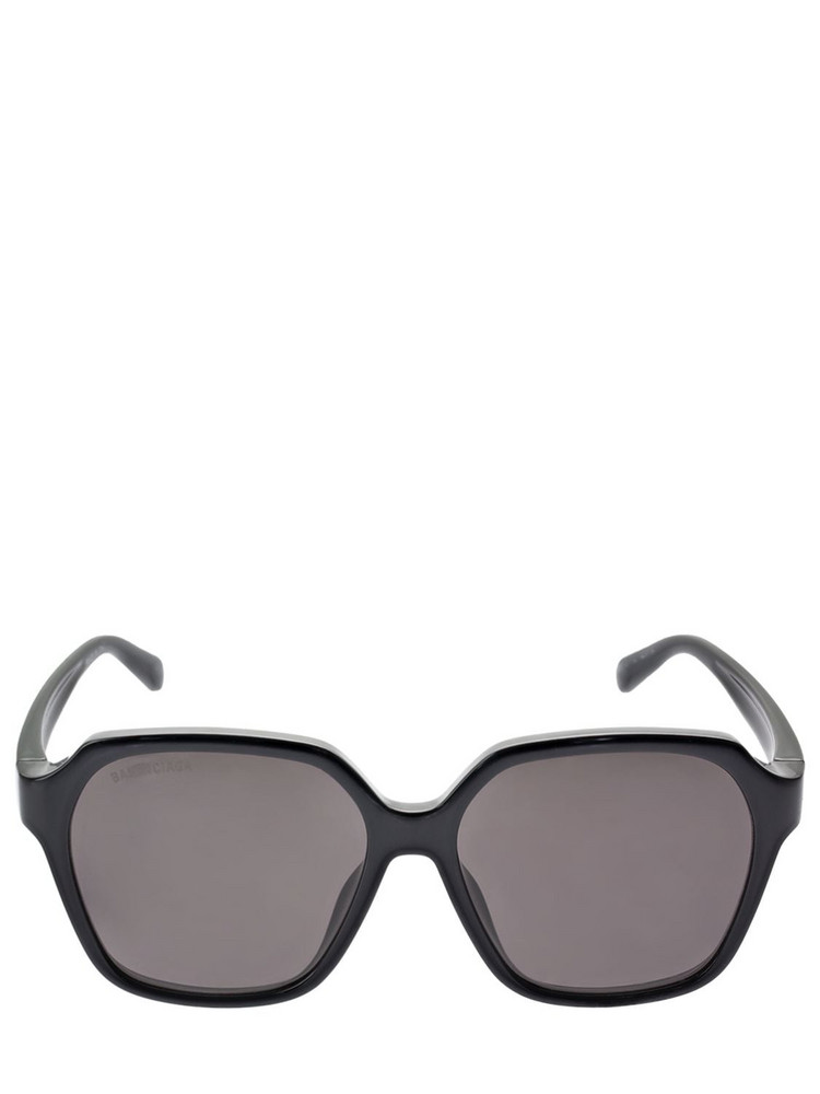 BALENCIAGA Side Squared Sunglasses in black / grey