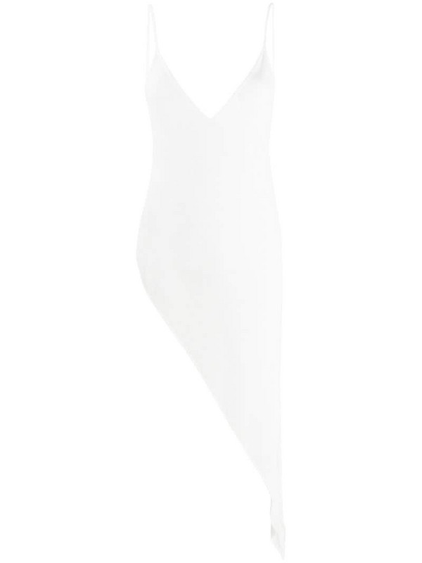 Ssheena asymmetric V-neck top in white