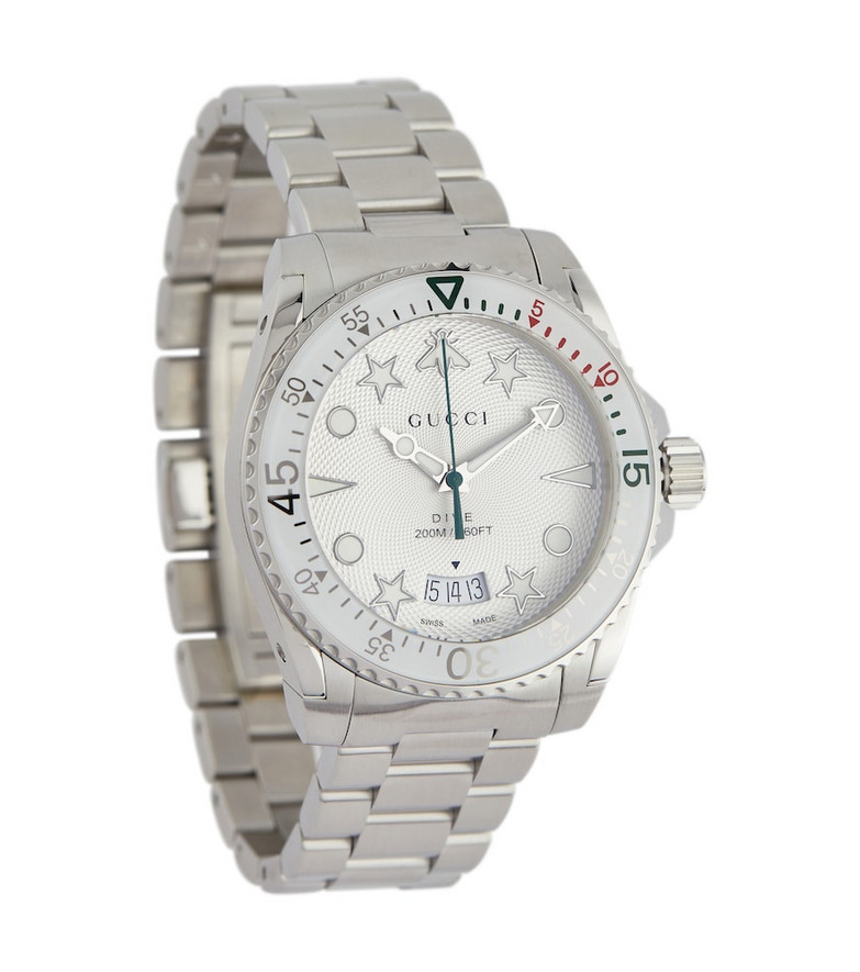 Gucci Dive 40mm stainless steel watch in silver