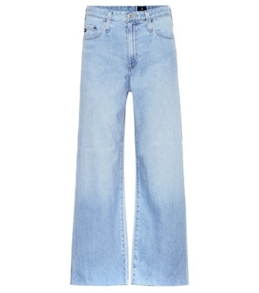 AG Jeans The Etta cropped wide-leg jeans in blue