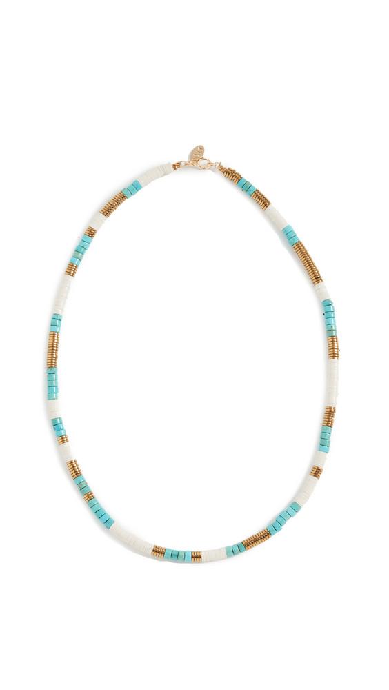 Maison Monik Java Necklace in turquoise / gold / white