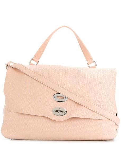 Zanellato top handle tote bag in pink