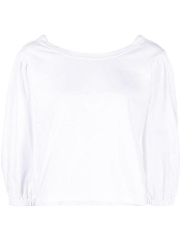 Forte Forte V-back cotton top in white