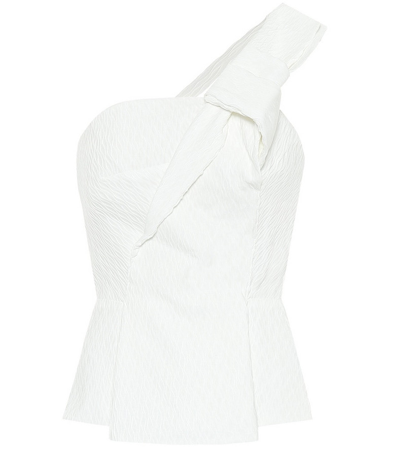 Roland Mouret Whitefield crêpe top in white