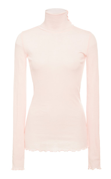 byTiMo Merino Turtleneck Top Size: M in pink