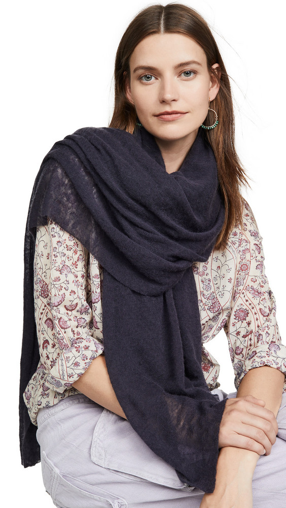 Isabel Marant Zephyr Cashmere Scarf in purple