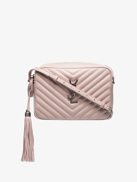 Saint Laurent pink lou quilted cross body bag