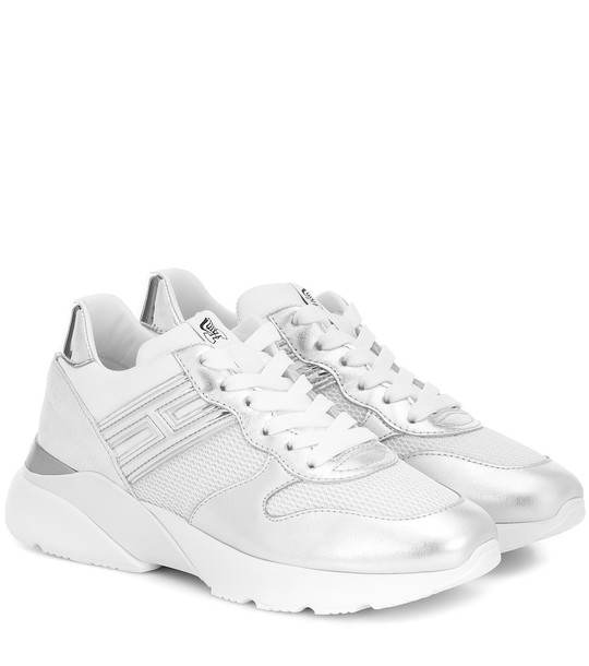 Hogan H385 Active One leather sneakers in silver