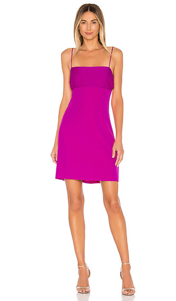 MILLY Cady Dana Silk Combo Strappy Dress in Pink