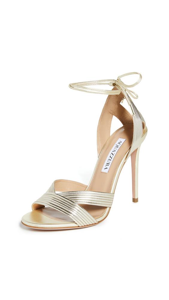 Aquazzura Ari Sandals 105mm in gold